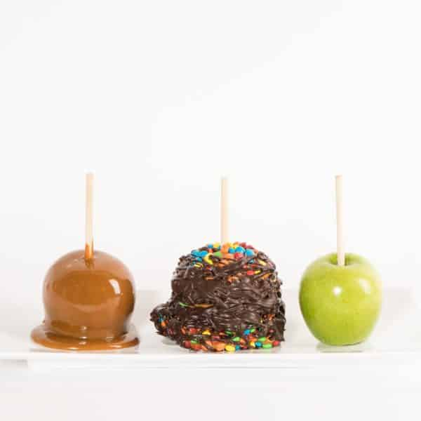 Chocolate Covered Candy Apple Covered in Dark Chocolate Caramel Apple Progression