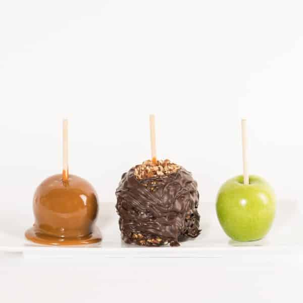 Dark Pecan Caramel Apple Progession