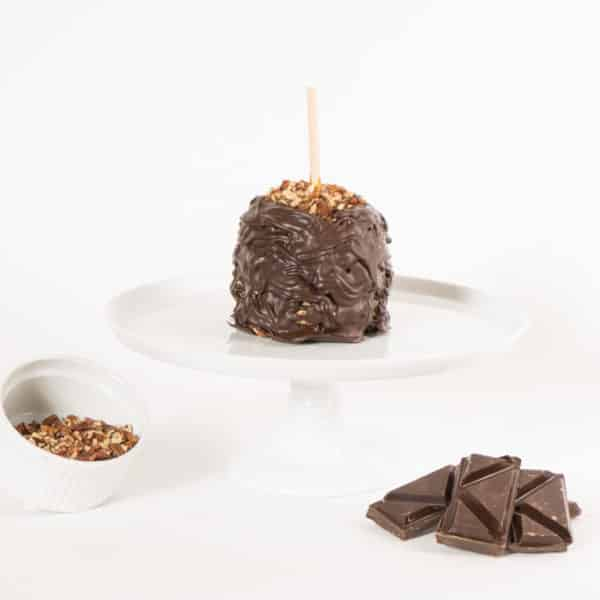 Dark Pecan Caramel Apple w Product display