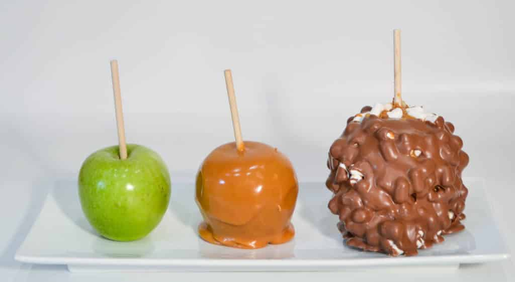 Milk Chocolate Rocky Road Caramel Apple - Candy Apple ShoppeCandy ...